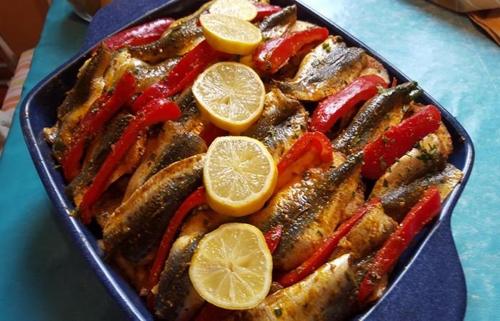 filet de poisson et sardines au four recette bouchra. Black Bedroom Furniture Sets. Home Design Ideas