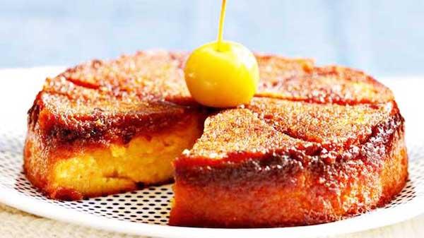 Recette gâteau caramélisé aux pommes
