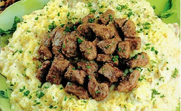 Recette Bœuf aux Champignons et Riz au Fenouil