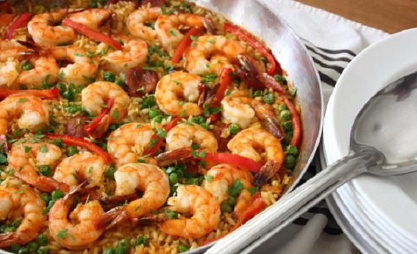 Recette Riz aux Crevettes Façon Paella