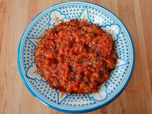 Recette Salade Marocaine de Taktouka (Tomates et Poivrons)