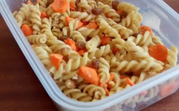 Recette Salade de Pâtes aux Carottes Thon et Raisins Secs