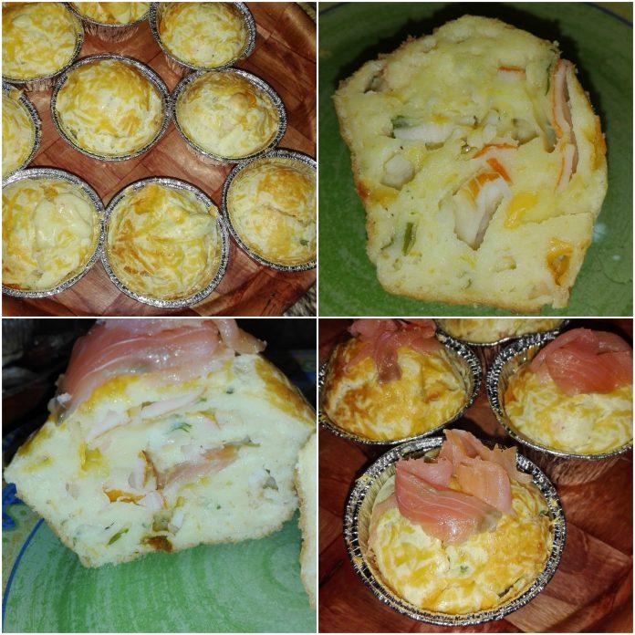 Recette Muffins aux Saumon Fumé et Surimi