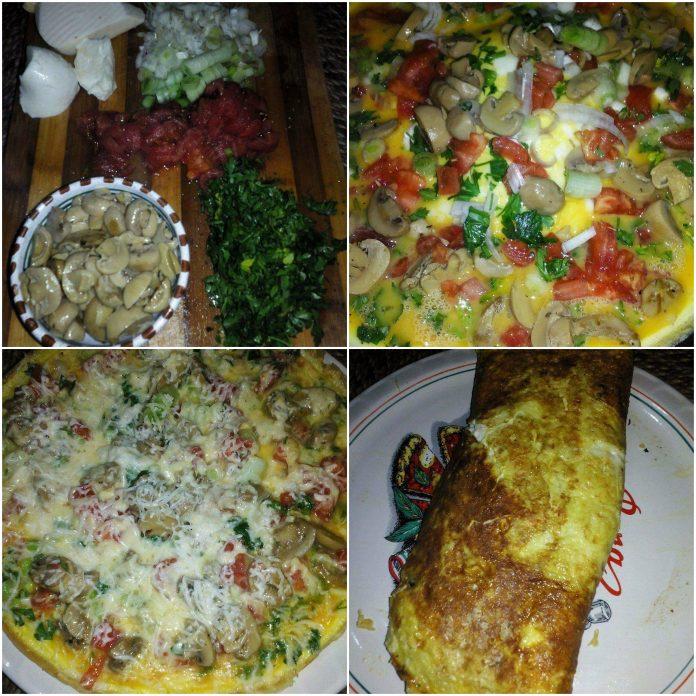Recette Omelette Roulée ou Omelette Façon Pizza