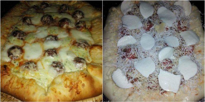 Recette Pizza aux Boulettes Sauce Blanche au Fromage