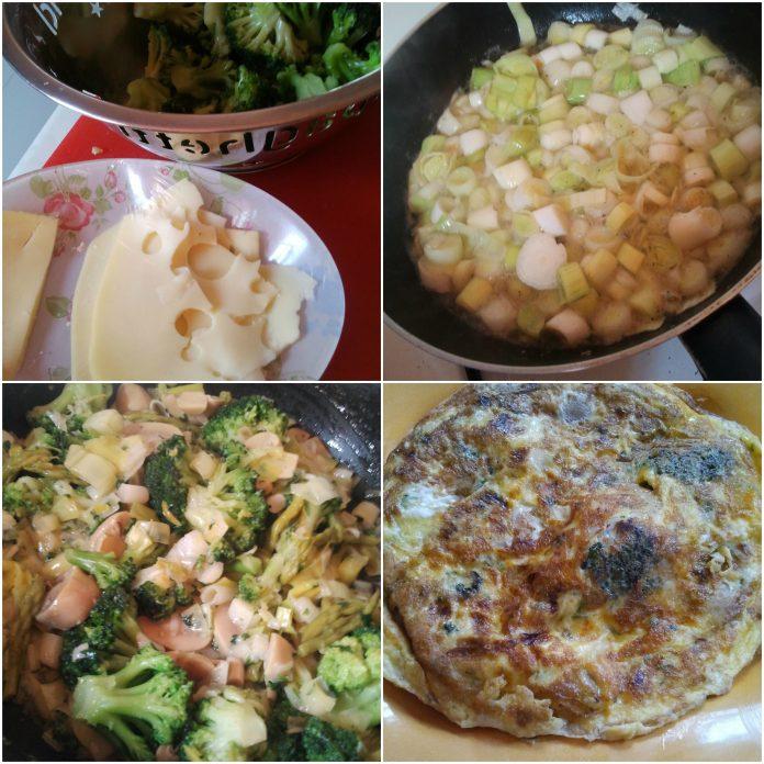 Recette Poêlée de Légumes en Omelette