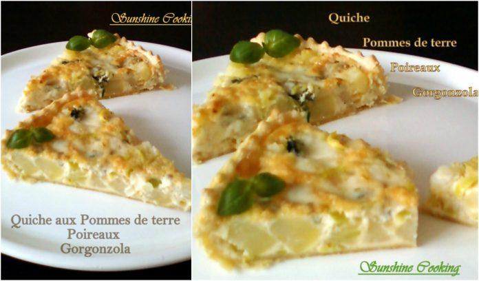 Recette Quiche aux Pommes de Terre Poireaux et Gorgonzola