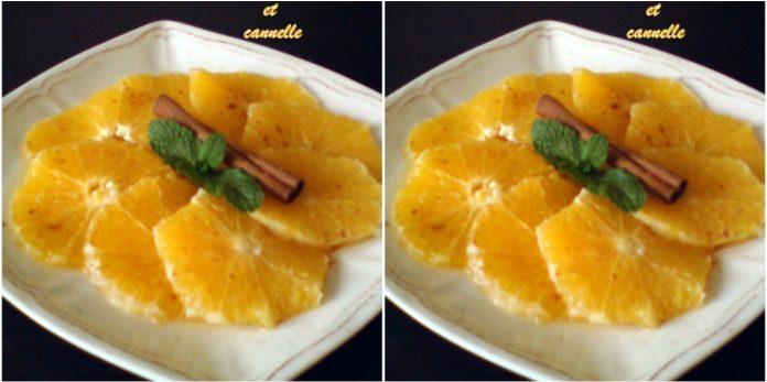 Recette Rondelles d'Oranges à la Fleur d'Oranger et à la Cannelle