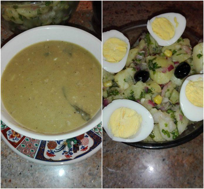 Recette Velouté de Pois Cassé et sa Salade Tiède