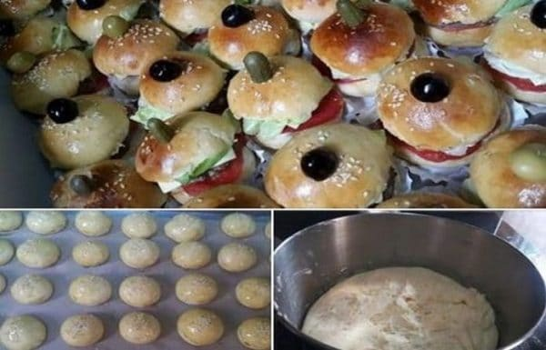 Recette Mini Hamburgers avec une Pâte Magique Inratable