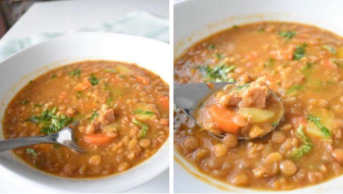 Recette Soupe au Lentille